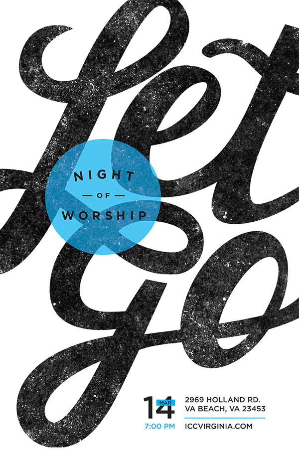 Night of worship on behance for Space poster design