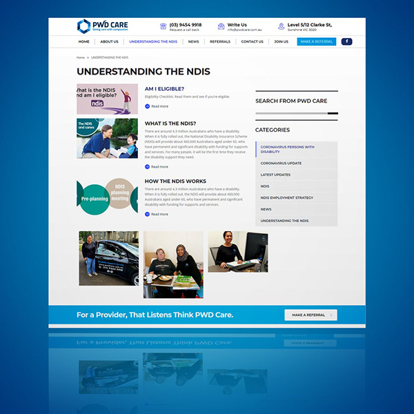 PWD Care Website Design Project