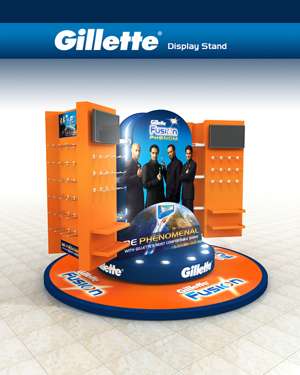 Exhibition Stand Advertising : Gillette display stand on pantone canvas gallery