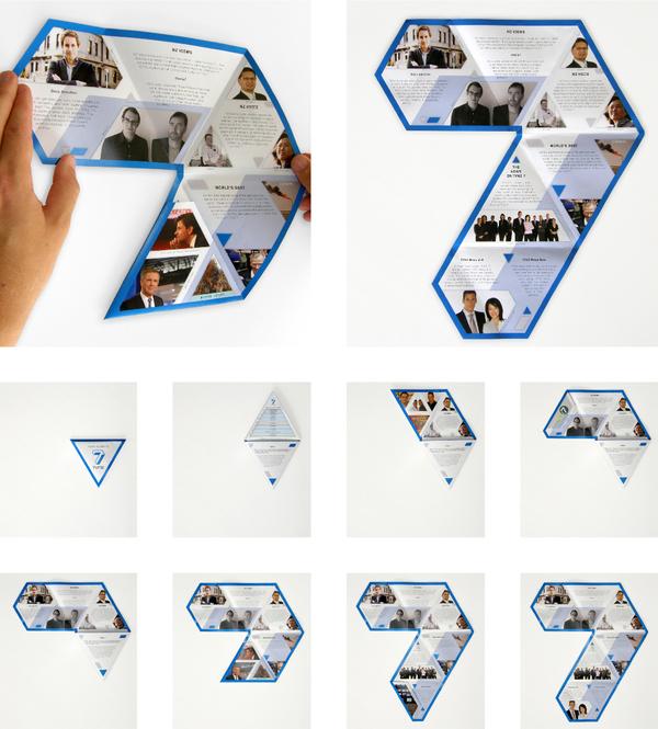 TVNZ new zealand fold folding unfold triangle brochure seven logo