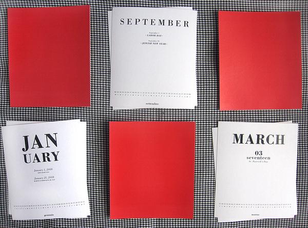 Calendar Typography S : Bodoni typographic calendar on behance