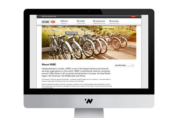 HSBC Learning Portal on Behance