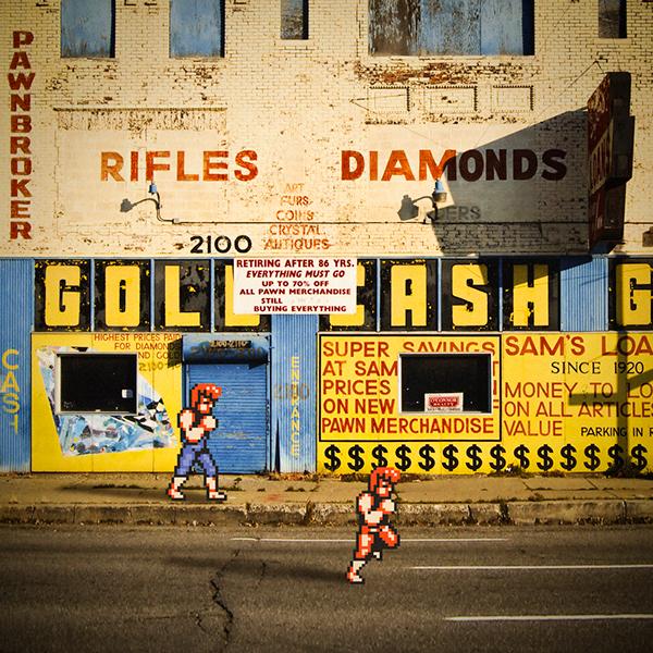 8-bit pixel Pixel art Retro mash-up Nintendo arcade NES Gaming video game photo