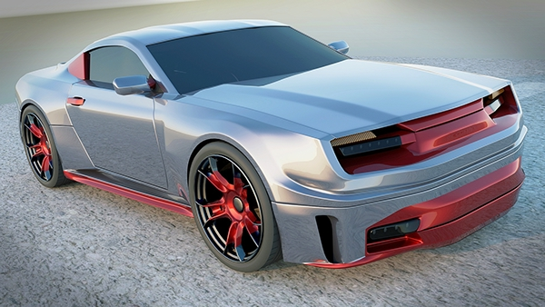 Stylish Sports Car Concept Rendering Project On Behance