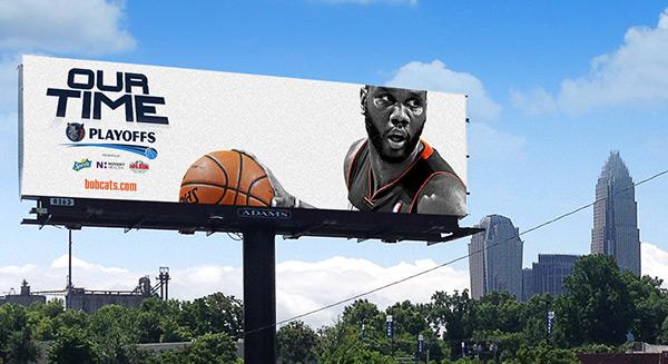 Charlotte bobcats 2014 nba playoffs NBA digital print Billboards posters collage michael kidd-gilchrist al jefferson Kemba Walker gerald henderson josh mcroberts