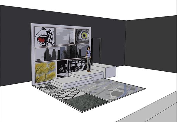Theatre  set design Comic Book Graphic Novel