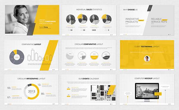 powerpoint template on behance, Powerpoint templates