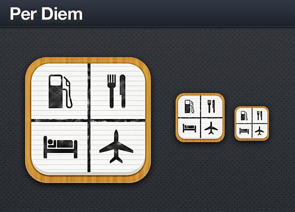 Per diem iphone app icon on behance for App per design