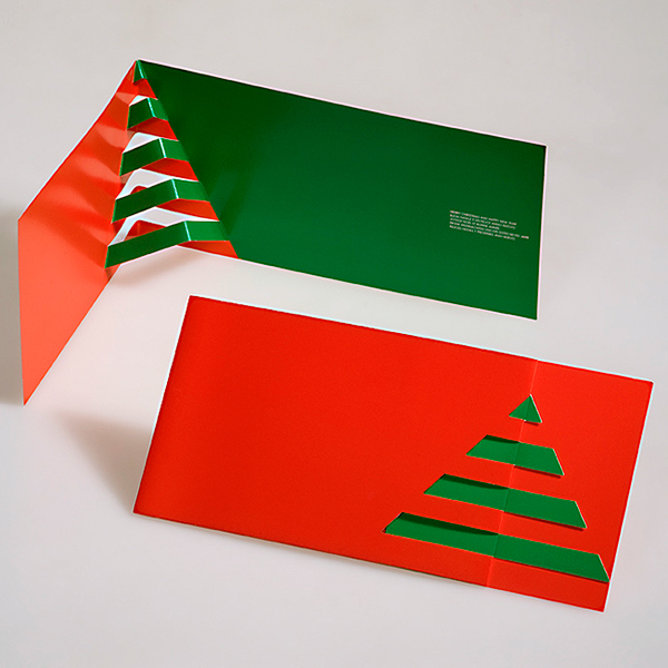 3d popup kirigami postcards on pantone canvas gallery for Kirigami christmas card