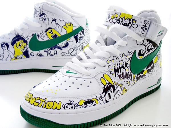 Custom painted Nike sneakers on Behance