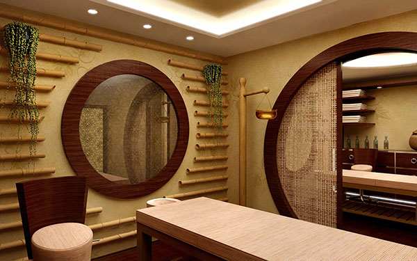 massage rooms SPA Caldera Blue Hotel on Behance