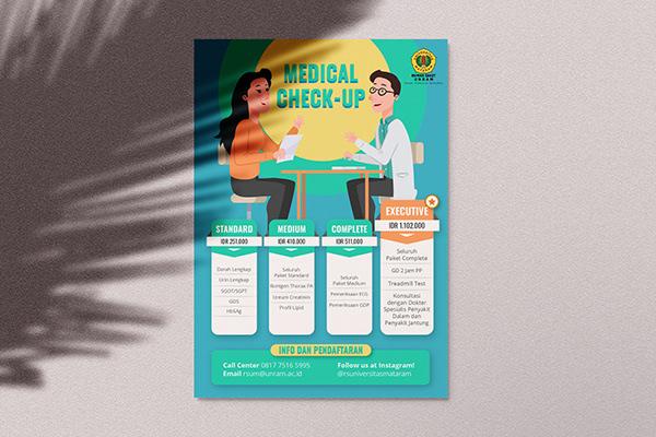 A Brochure or flyer that promotes Rumah Sakit Universitas Mataram's service packages