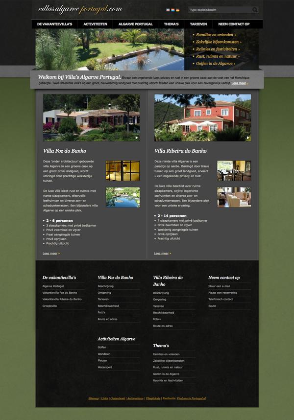 jeroen rijpstra Van der Let & Partners Identity Villa's Algarve Portugal Webdesign