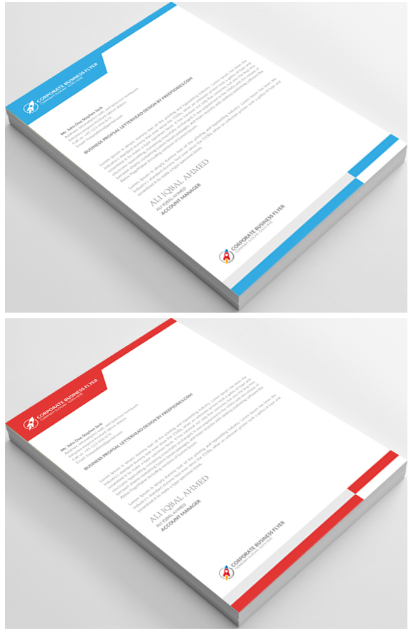 10 free letterhead psd templates download on behance for Stationery templates psd