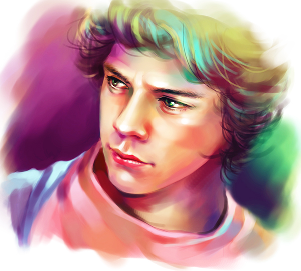 Harry Styles Portrait Digital Painting on Behance