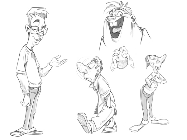 how to draw a cartoon body on character design served