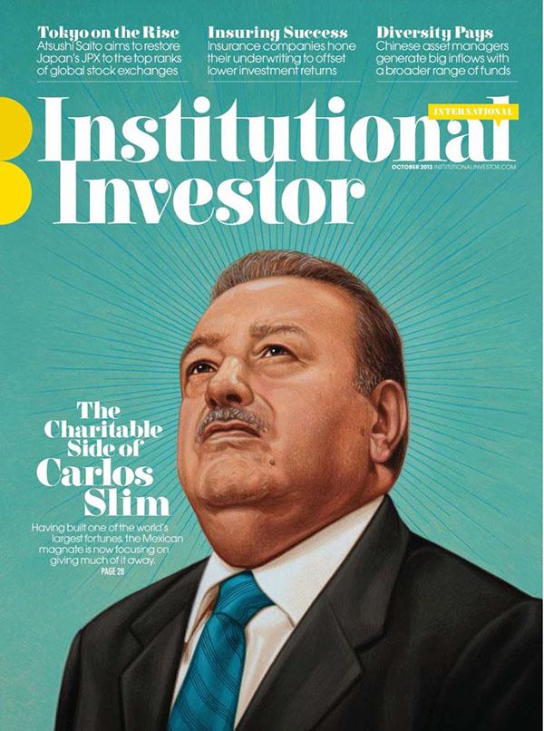 Carlos Slim cover portrait for Institutional Investor. on Behance