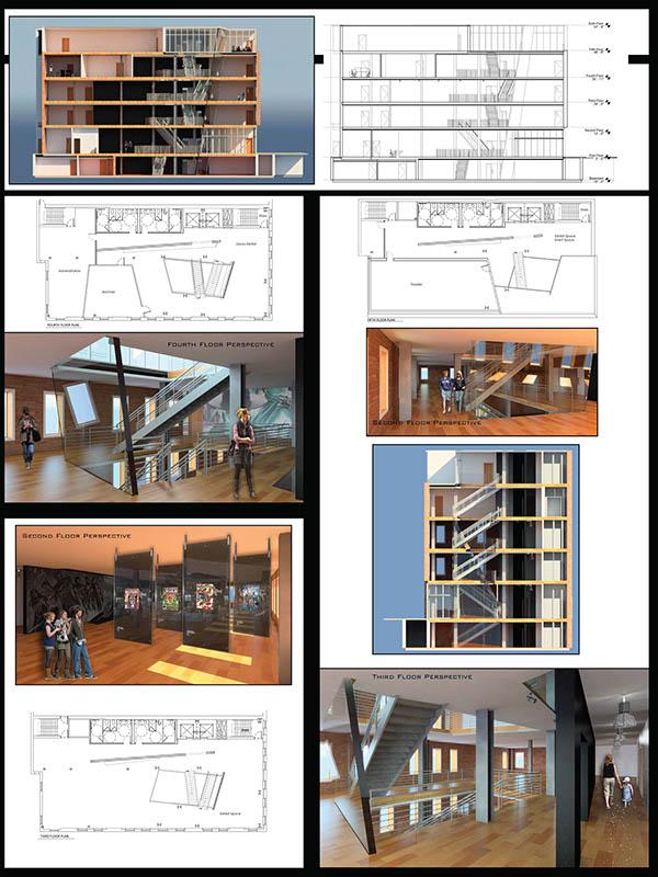 Comic Book Museum Mid Crit Board Process Work Interior Design