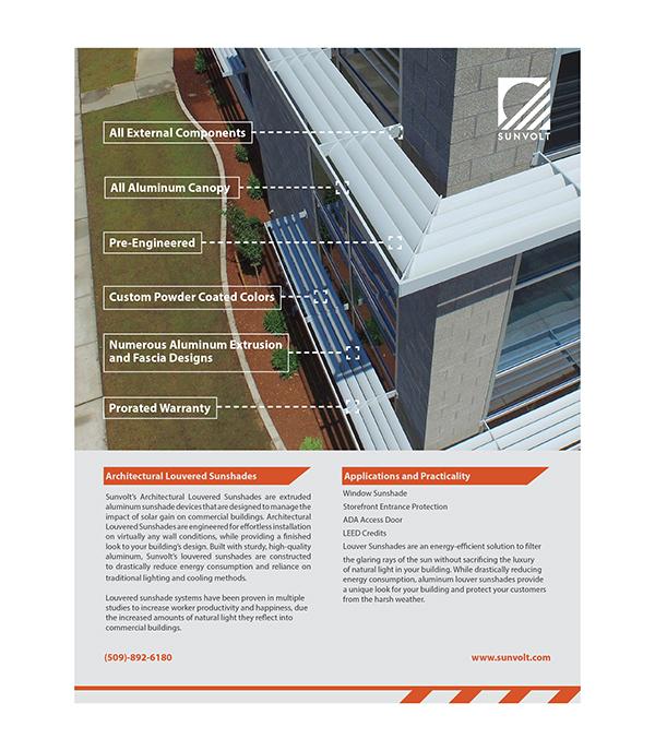 Sunvolt Branding Identity On AIGA Member Gallery - Real estate spec sheet template