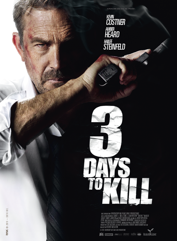 three days to kill poster. Black Bedroom Furniture Sets. Home Design Ideas