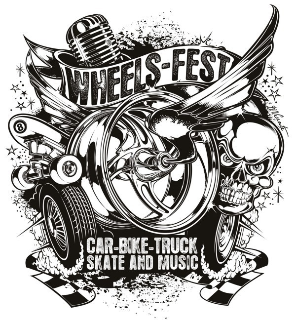 Logo Wheels Fest On Pantone Canvas Gallery
