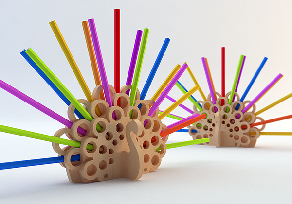 The Hedgehog And The Peacock Pencil And Stuff Holders On