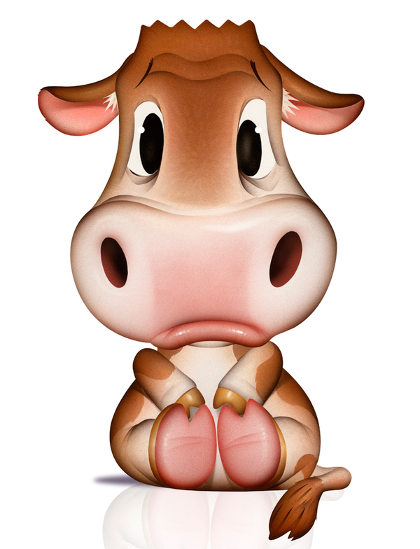 Valentine Cute Cow Cartoon Love Stock Photos, Images ... |Cute Animated Cows In Love