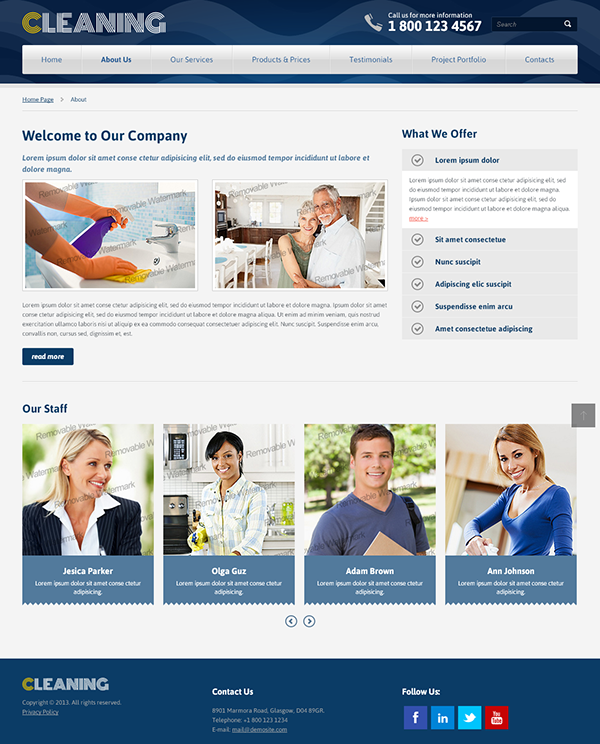 professional cleaning services bootstrap html template on behance