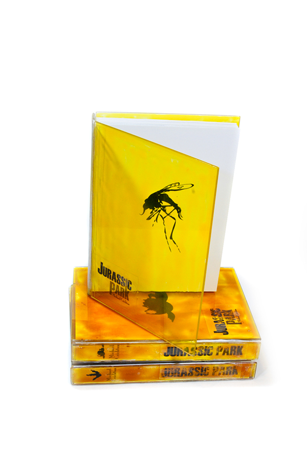 jurassic park book book cover Amber trilogy books