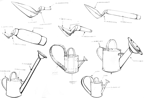 Drawing viewpoints on risd portfolios for Gardening tools drawing