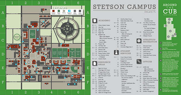 Stetson Campus Map Stetson Campus Map on Behance