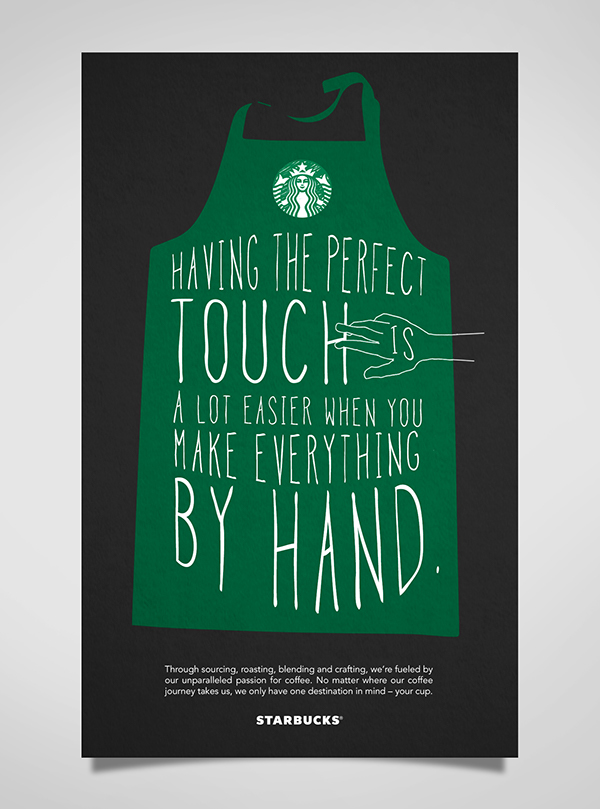 starbucks typographic poster design on behance
