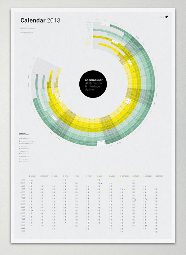 calendar,infographic,infographics,information design,minimal,year,month,circle