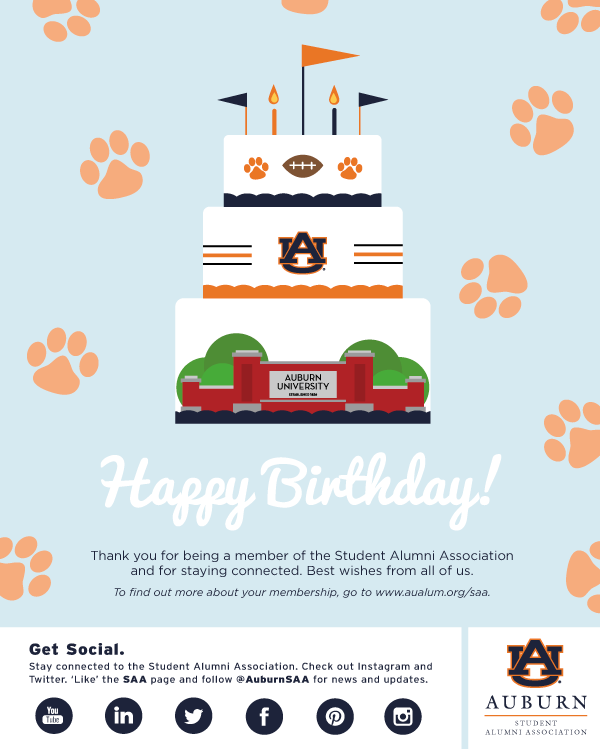 Student Alumni Association E Birthday Card On Behance
