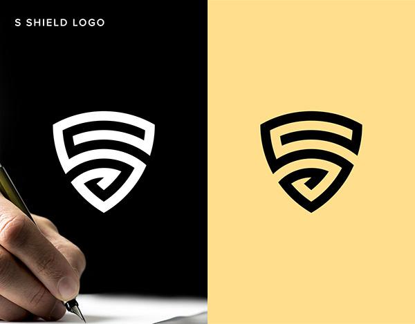 Letter S shield logo design | Minimal | Branding