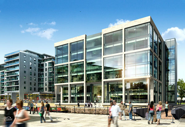 New office building clarence dock leeds on behance for Build a house for 75000