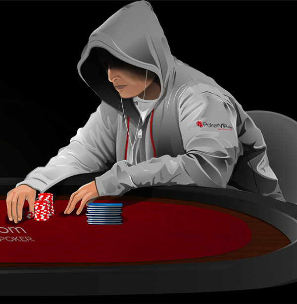 Poker Player Illustration