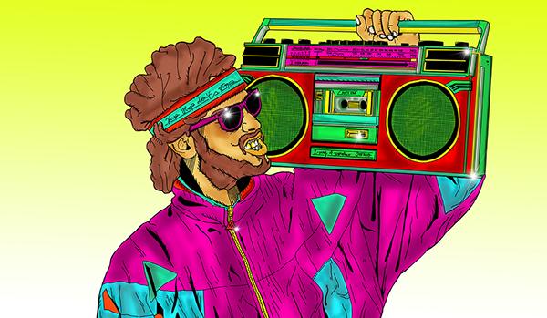 family gangster NZ maori prison hip hop colours digital painting