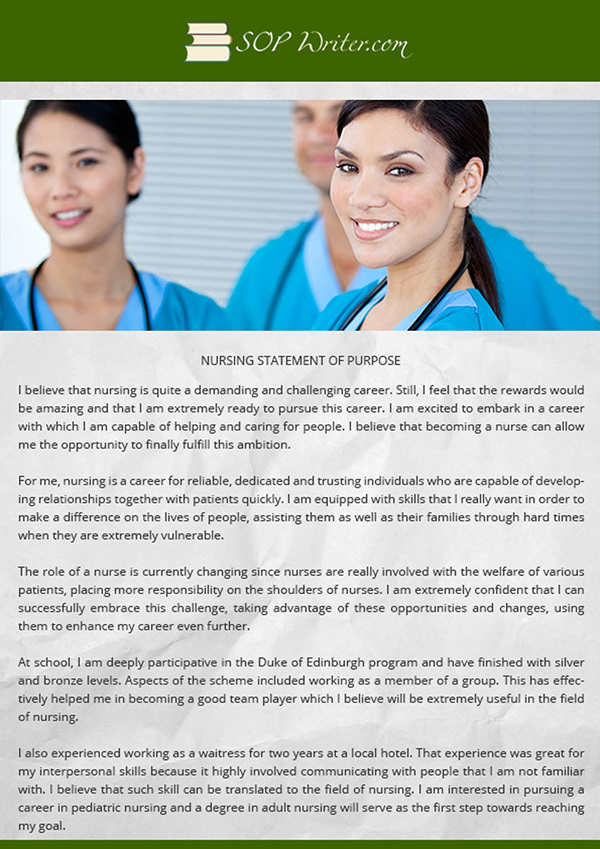 statement of purpose for employment