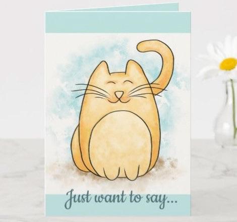 animal Cat Cat Cartoon cat illustration cute orange Pet Practice watercolor yellow