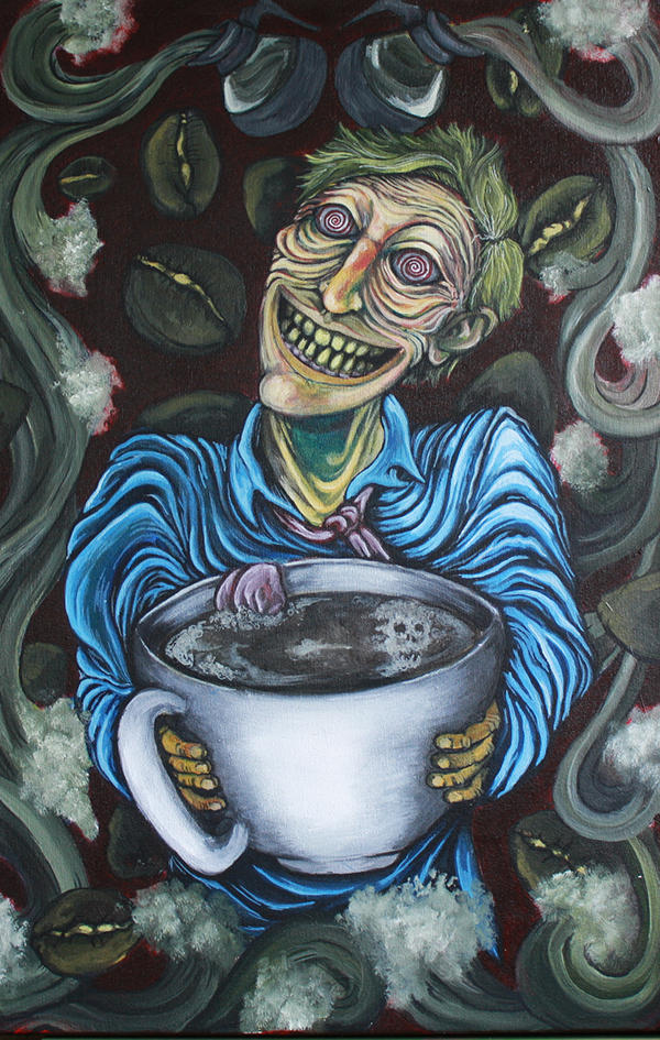 Image result for coffee addiction paintings