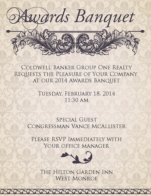 2014 cb awards banquet invitation itinerary on behance stopboris Image collections
