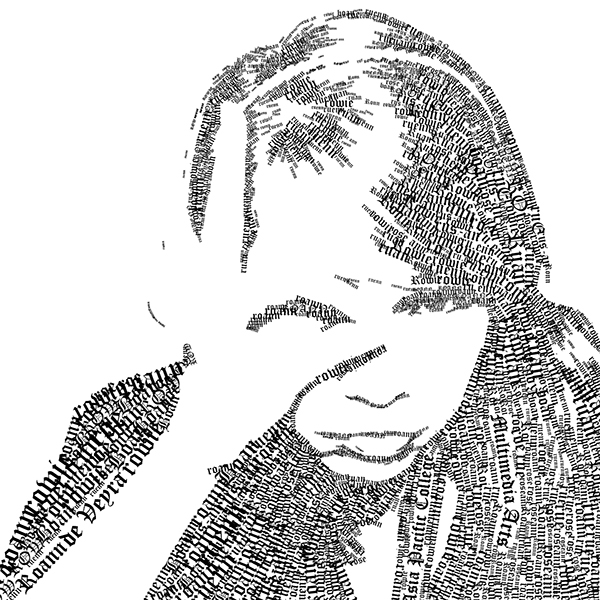 self portrait typography on behance