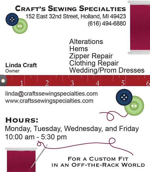 Crafts sewing specialties business card on behance reheart Choice Image