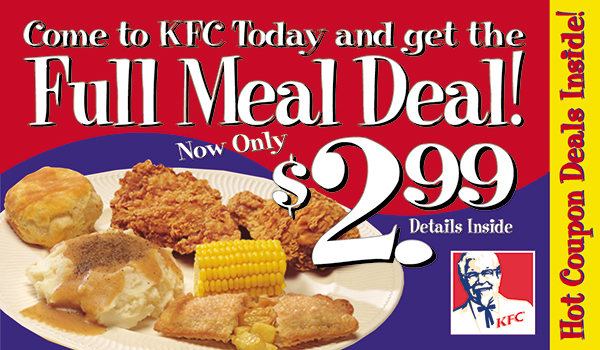 Kentucky fried chicken discount coupons