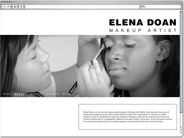 elena doan makeup artist website  u0026 photography on behance