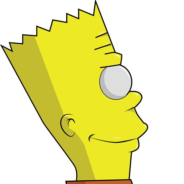 Bart Simpson cartoon draw
