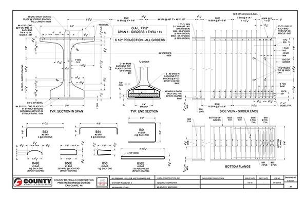 Bridge Girder Production Drawing Sample On Behance