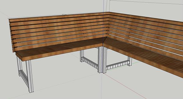 bench wood terrace outdoors restaurant dutch Dutch design
