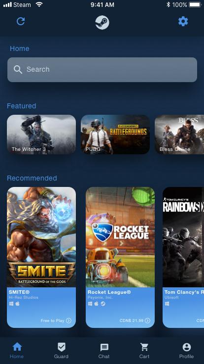 Steam App Redesign on Behance